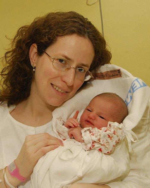 Kateřina Maryncová z Vratišova se narodila 10. března 2008, 3130 g, 50 cm.