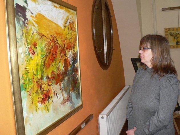 Výstava obrazů Jana a Věry Řeřichových v Galerii M.