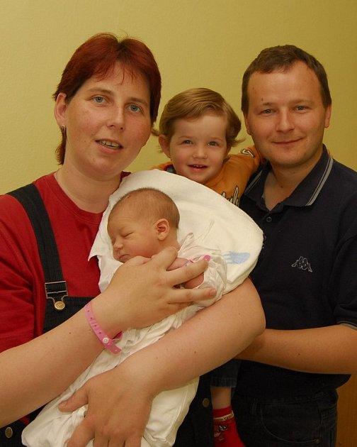 Anna Příhodová z Humpolce se narodila 19. května 2008, 3900 g.