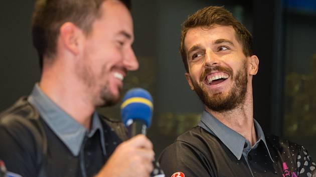 Michal Obešlo (vpravo) odjel trénovat do Řecka.