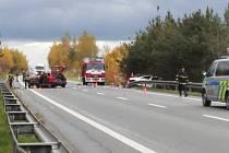 Vážná nehoda na silnici I/20 u Semic.