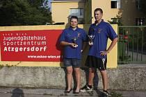 Na snímku jsou sourozenci Kateřina a Jiří Markovi (Casting sport Písek), kteří ve Vídni vyhráli juniorské kategorie v mezinárodním závodě v rybolovné technice.