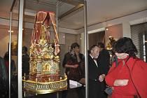 Z výstavy Úcta Písečanů k svatému Janu Nepomuckému v Prácheňském muzeu v Písku. v