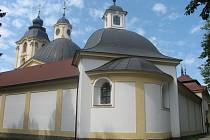 Sepekov, poutní barokní kostel Panny Marie. Ilustrační foto