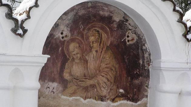 Unikátní hřbitov v Albrechticích nad Vltavou.