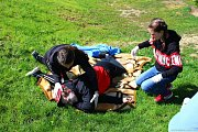 Červený kříž a hasiči uspořádali soutěže pro děti.