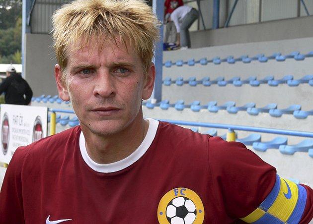 Kapitán a střelec Jan Zušťák je s účinkováním mužstva FC Písek v podzimní části třetí fotbalové ligy spokojen.