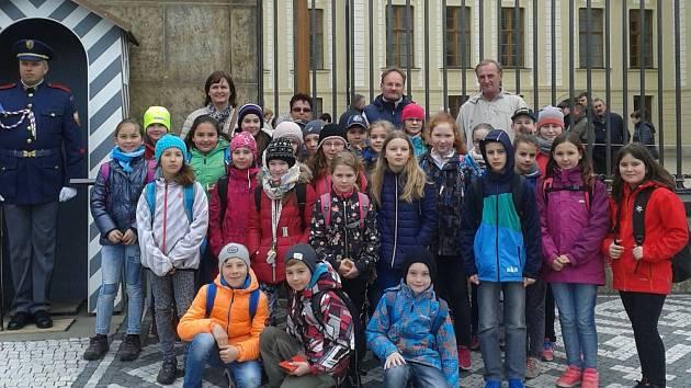 Žáci z Benešovky se vydali na Pražský hrad.