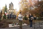 Vzpomínková akce na Mírovém náměstí.