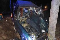 Dopravní nehoda u Smetanovy Lhoty.