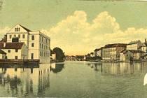 Drátovský mlýn v Písku na historické fotografii.