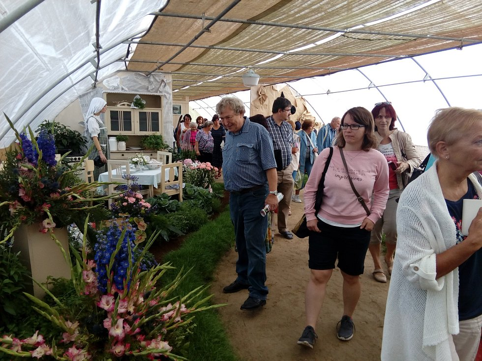 Výstava květin v Čimelicích.