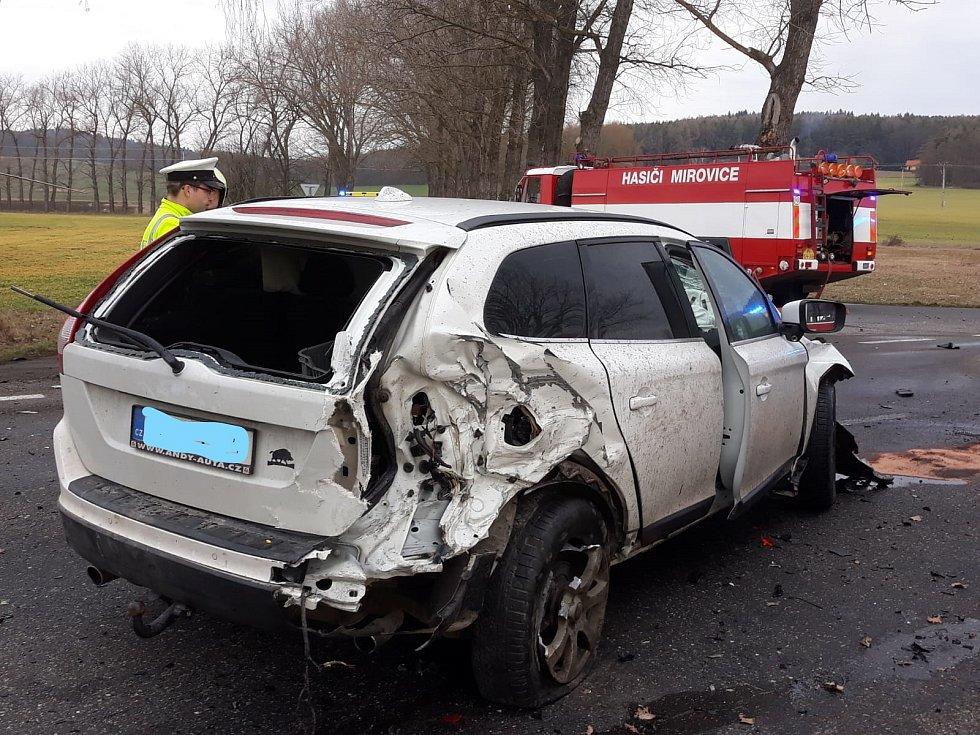 Dopravní nehoda u Čimelic.
