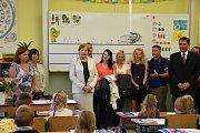 První školní den v ZŠ J. K. Tyla v Písku.