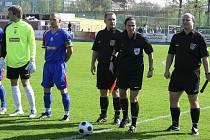 Dagmar Damková před časem také řídila jako hlavní rozhodčí zápas České fotbalové ligy v Písku.