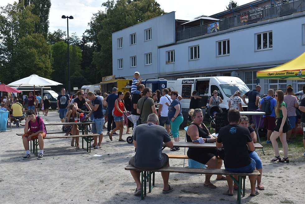 Street Food Market v Písku.
