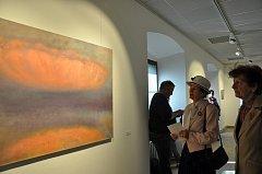 V Galerii Prácheňského muzea je do 27. května otevřena výstava obrazů akademického malíře Davida Franka nazvaná Jen malba.