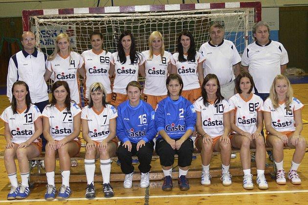 Interligové házenkářky Casty Sokola Písek (na snímku) sehrají v sobotu 25.10. v této sezoně první mistrovské utkání na domácím hřišti. Od 15 hodin přivítají družstvo Veselí nad Moravou.