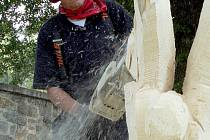 Soutěž v lesnických dovednostech na Městském ostrově v Písku - 23.9. 2008.