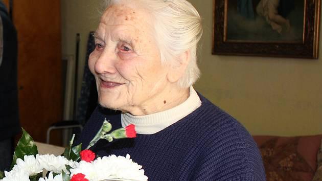 Pavlína Pavlová oslavila 101. narozeniny.