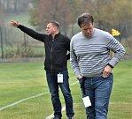 Trenér semických fotbalistů Marcel Nousek.