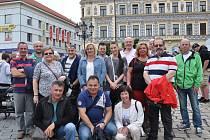 Delegace z Velkého Krtíše společně s pracovníky Městského úřadu v Písku.