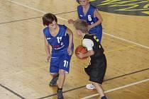Zajímavé bývají zápasy i nejmenších basketbalistů.