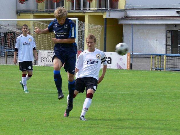 Přátelské mezinárodní utkání staršího dorostu U19 fotbalistů FC Písek a Mnichova 1860.