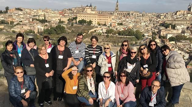 Projektový tým Erasmus+ v Toledu.