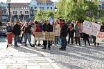 Protest v Písku.