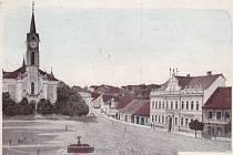 Rok 1911 - náměstí E. Beneše.