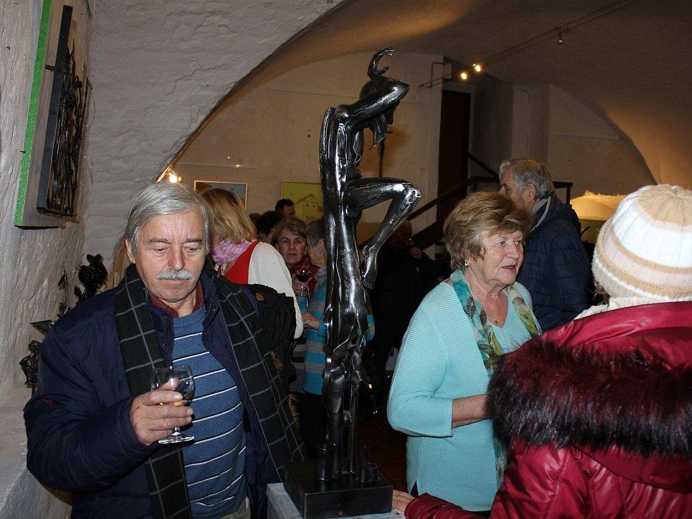 Výstava Setkání uměleckého kováře Davida Habermanna a výtvarníka Valentina Horby v Galerii M.