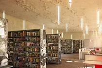 Vizualizace nové městské knihovny v Písku.