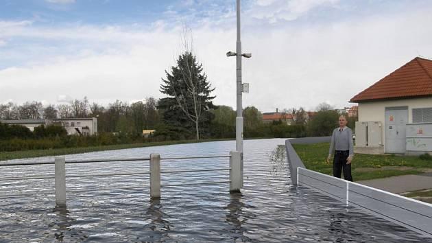 Vizualizace protipovodňových opatření na Mehelnickém potoce.