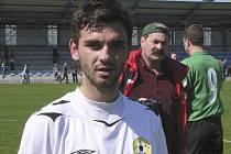 Robin Demeter (na snímku) potvrdil svým gólem, vstřeleným v samém závěru utkání třetí fotbalové ligy, výhru Písku nad Chomutovem 2:0.