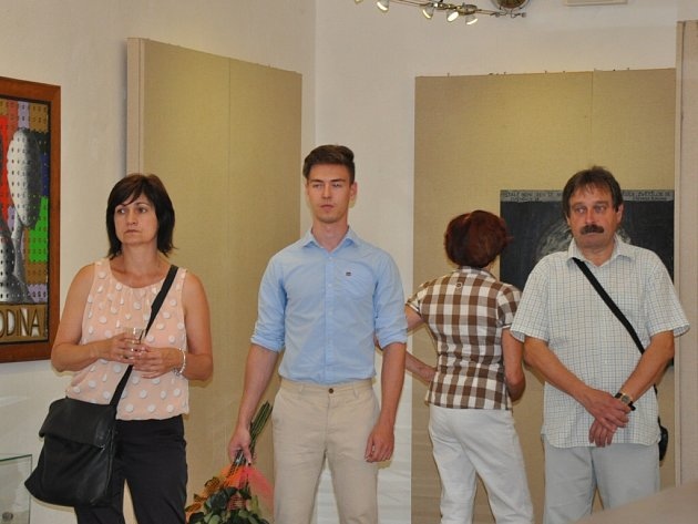 Vernisáž výstavy Pavly Gregorové Šípové v Malé galerii Sladovny v Písku.
