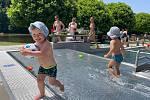V bazénech řádily hlavně děti. Voda měla příjemných 24 stupňů.