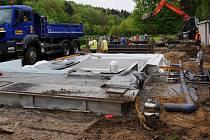 Rekonstrukce plovárny U sv. Václava pokračuje.
