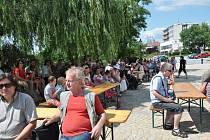 Letní slavnost na Kamenném mostě v Písku.
