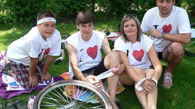 Pavel Koc se svoji rodinou.