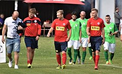 DERBY. Před týdnem odcházeli fotbalisté Čimelic ze hřiště spokojeni.