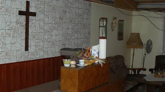 Společenská místnost v Domě s pečovatelskou službou Domovinka v Písku.
