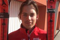 Člen píseckého Skiklubu Štěpán Kroupa.
