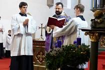 Svěcení adventních věnců v Písku.