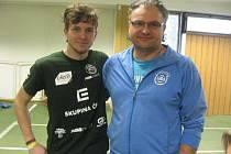 Na snímku je chyšecký závodník Vít Strouhal se svým otcem Martinem Strouhalem.
