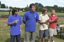 Na snímku z Českých Budějovic jsou úspěšní junioři (zleva)  Daniel Štěrba, Filip Humpál (oba z Písku), Radim Novák (Ostrava) a Filip Vaculík (Pelhřimov).