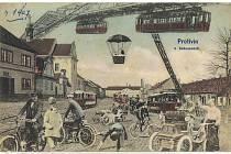 Město budoucnosti je název jedné z pohlednic Protivína.