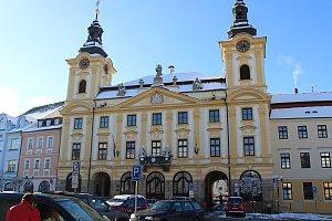 Písek, budova radnice. Ilustrační foto