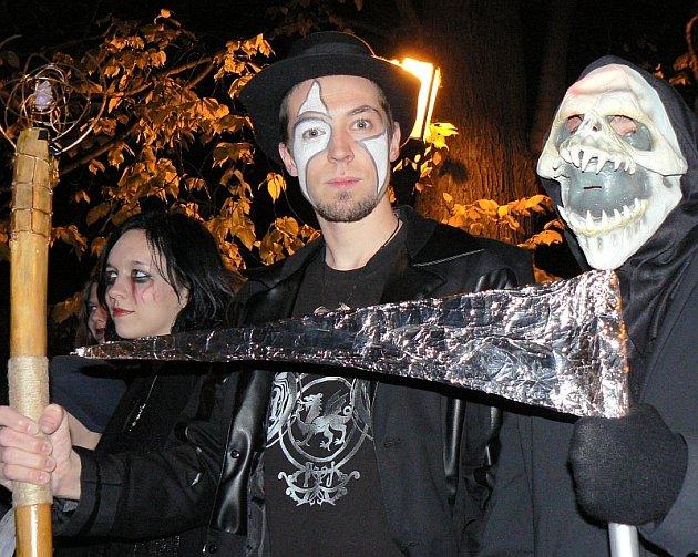 Halloweenský průvod v Písku