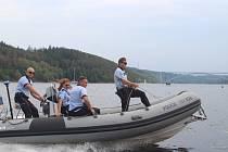 Akce Voda 2019 na Orlické přehradě.